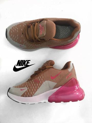 Tênis nike air max 270 infantil rosa/bege importado novo