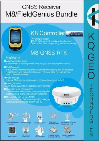 Gps m8 gnss rtk multi-frequência (entrada de 15.000,00 e