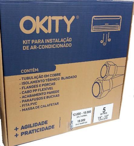 Kit instalação ar condicionado split 12/18000btus 1/4-1/2