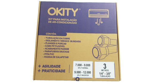 Kit instalação ar condicionado split 7/9.000btus 1/4e3/8