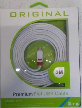 Cabo micro usb 3 metros griffin premium samsung lg etc