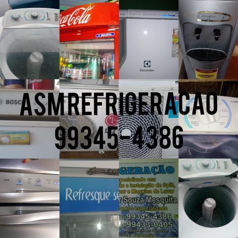 Limpeza de ar,instalacao de splits,conserto de geladeiras