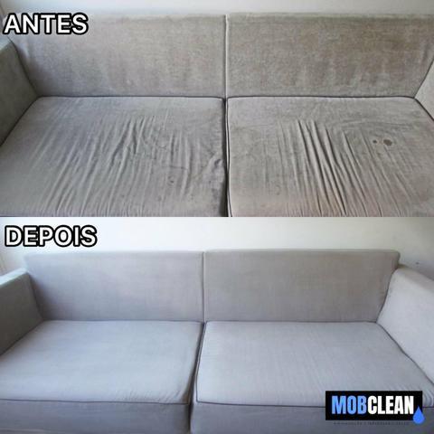 Higienização e impermeabilização de estofados (limpeza