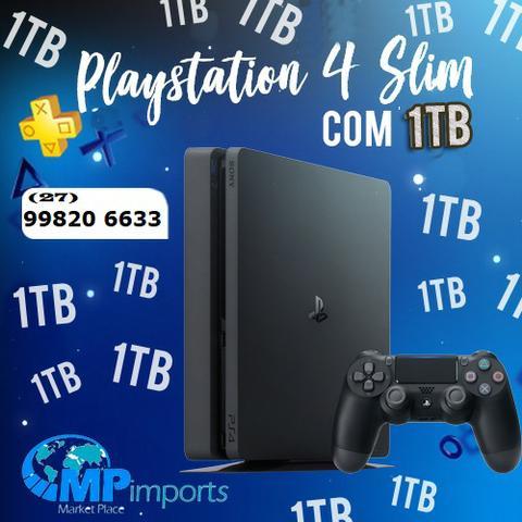 Playstation 4 ps4 slim 1tb novo! lacrado! melhor garantia,