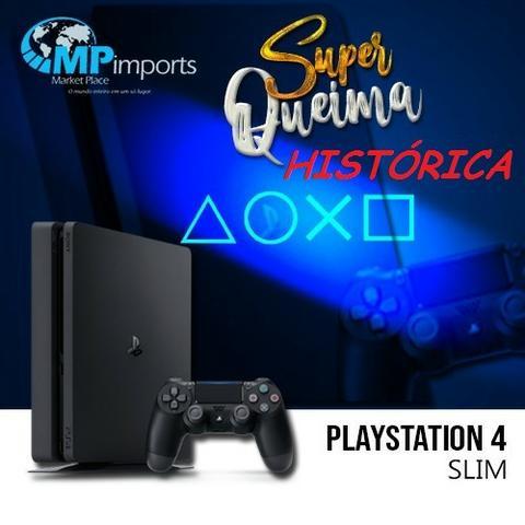 Playstation 4 slim novo de verdade!!! completo! lacrado!!!