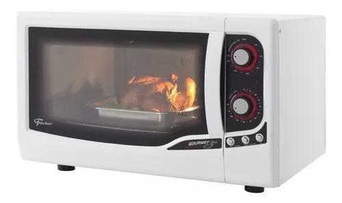 Forno elétrico bancada fischer gourmet grill 44l branco