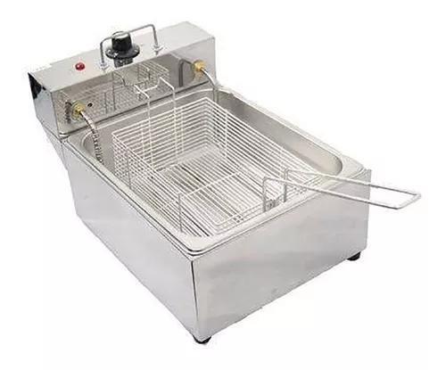 Fritadeira elétrica 1 cuba 5 litros p/ salgados c/ garantia