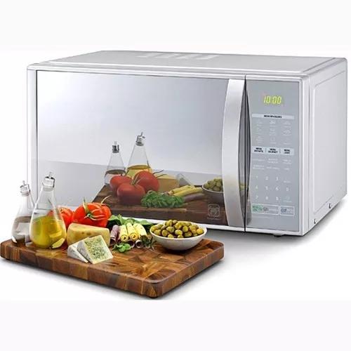 Micro-ondas lg mh7053, com grill, 30 litros, espelhado 220v