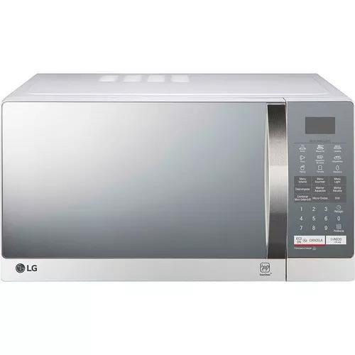 Microondas lg 30 litros mh7057q espelhado grill prata 110v