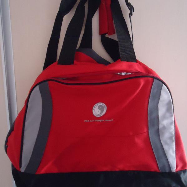 Bolsa mala de viagem estilo lona op ocean pacific vermelha