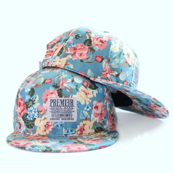 Boné aba reta feminino floral vintage premier cores: