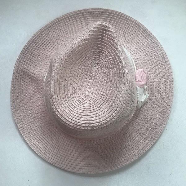 Chapéu chanel rosa bebê