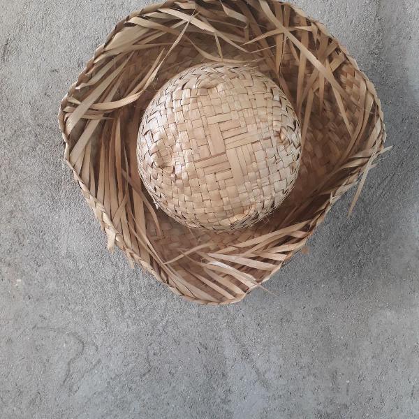 Chapéu de festa junina rústico adulto