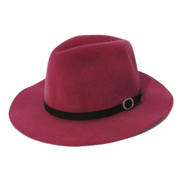 Chapéu feminino floppy rosa aba curta