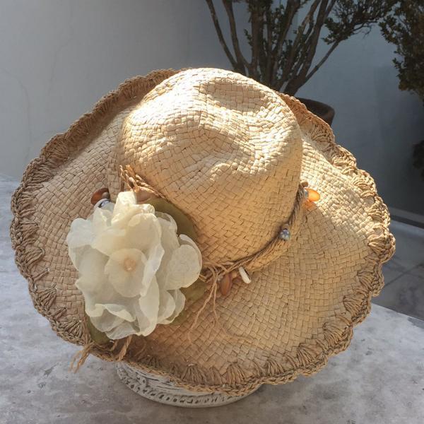 chapéu palha praia