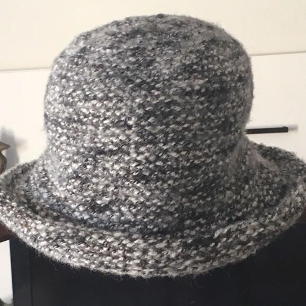 Chapéu tweed cinza