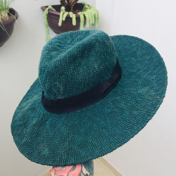 Chapéu zara verde