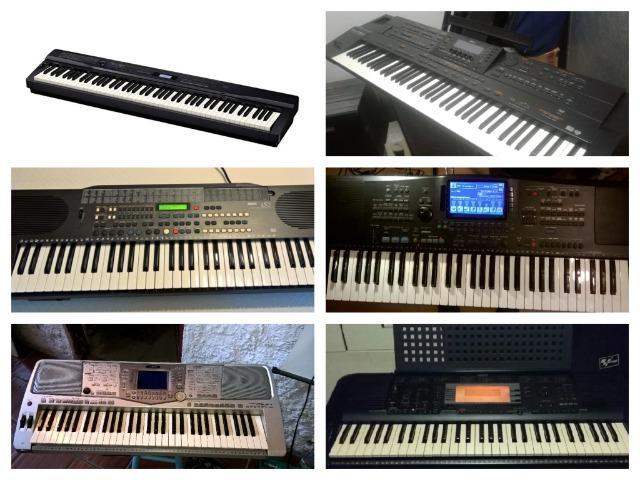 Teclados yamaha,korg,roland,m-audio e casio todos com ritmos