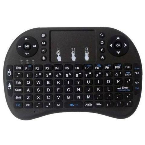 Mini teclado sem fio smart tv box media player pc videogame