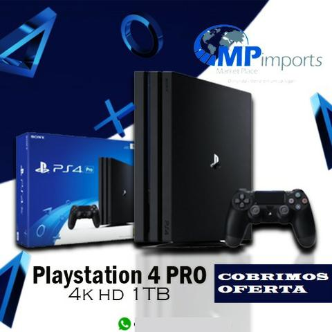 Playstation 4 pro novo!! loja!!! 4k hd 1tb 1 ano garantia