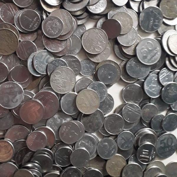 1kg de moedas antigas de cruzeiros e cruzados!
