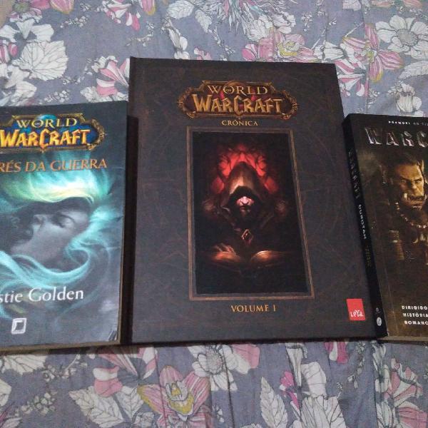 3 livros de coleção warcraft