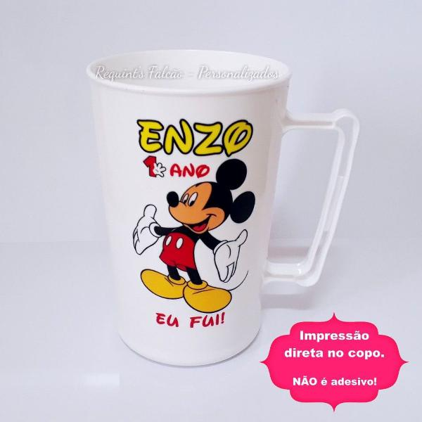 50 canecas copo chopp 300ml mickey personalizadas temas