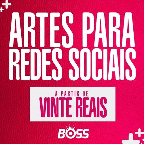Artes para redes sociais.