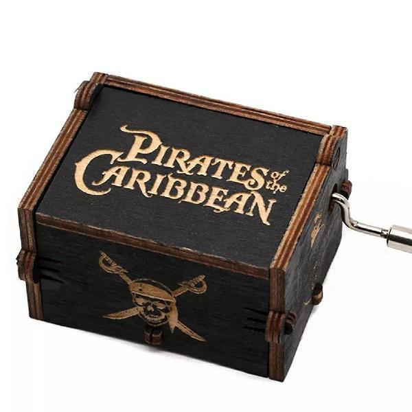 Caixinha de música tema piratas do caribe