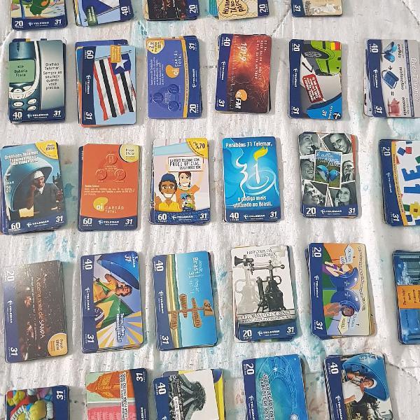 Cartões telefônicos para colecionador