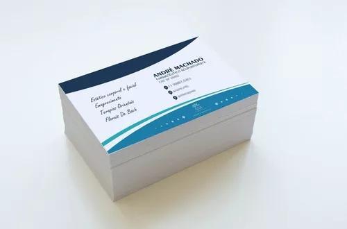 Cartão de visita colorido frente e verso - com verniz