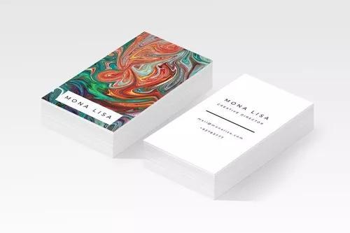 Cartão de visita impresso + online