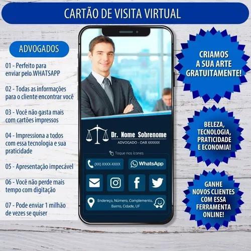 Cartão de visita online p/ advogados