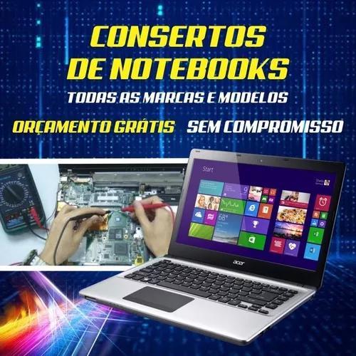 Conserto de notebooks qualquer marca e modelo.