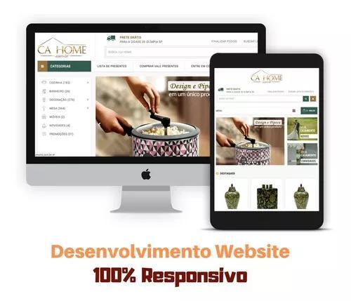 Criação de sites profissionais responsivos e hospedag