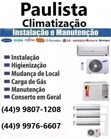 Higienização ar condicionado, instalação e