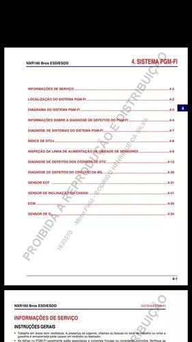 Manual de serviços da 160