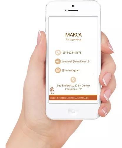 Novo cartão de visita digital - interativo