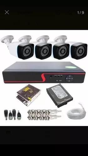 Serviços de instalação kit 4 cameras + configuração do
