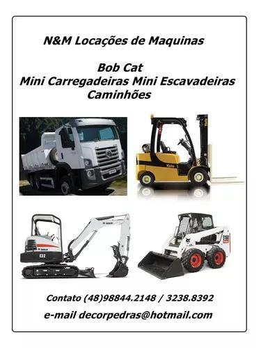 Serviços de locação de mini escavadeiras e bob cat