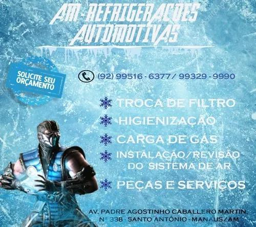 Serviços de refrigeração automotiva.