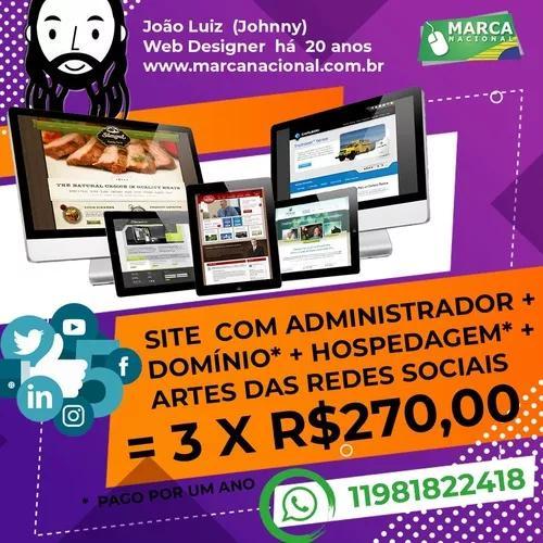 Site c/ administração + domínio + hospedag