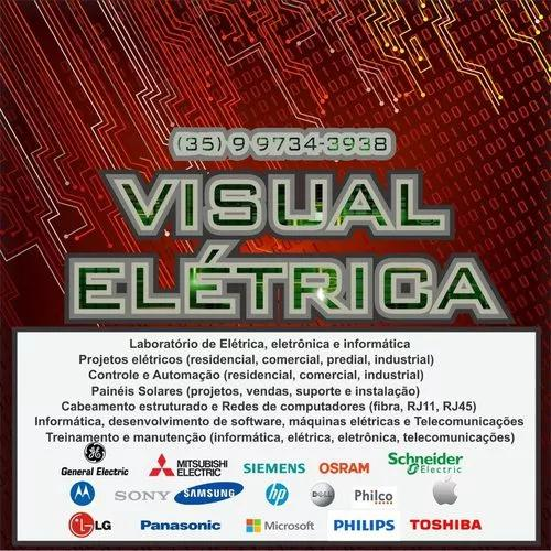 Visual elétrica - projetos, instalações, máquinas, etc.