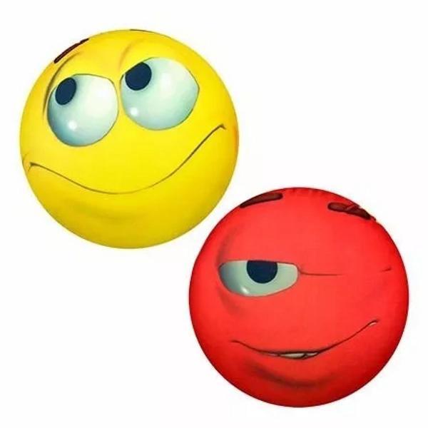 almofada carinhas vermelha e amarelo