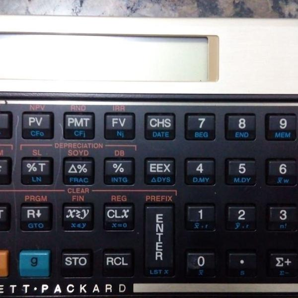 Calculadora hp 12c - gold