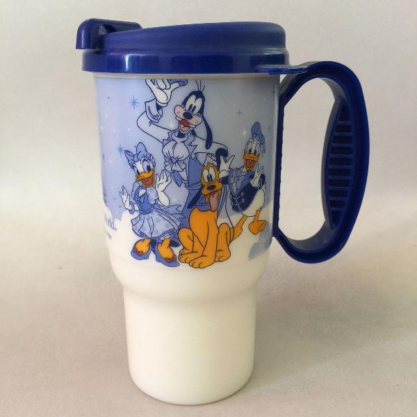 Caneca travel mug disney 2009 azul