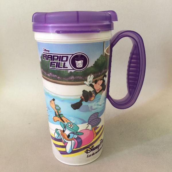 Caneca travel mug disney roxa 2012