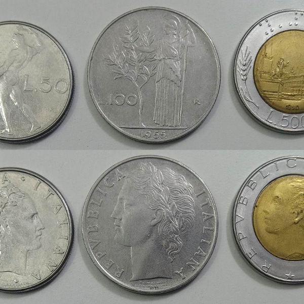 Coleção de moedas antigas da itália - lira