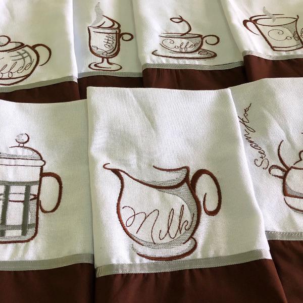 Kit 7 panos de pratos coffee