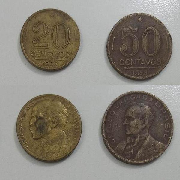 Moedas antigas do brasil - 43 / 55 / 67 / 74 / 89 / 92